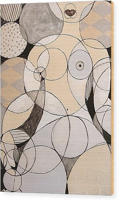 Circularity Wood Print by Joanne Claxton