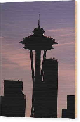 City Needle Wood Print by Tim Allen