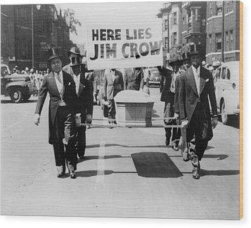 Civil Rights Demonstration In A Naacp Wood Print by Everett