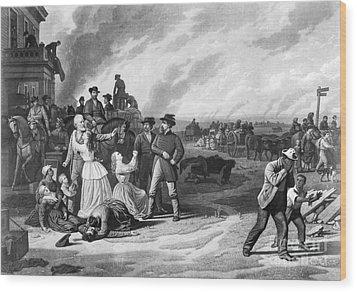 Civil War: Martial Law Wood Print by Granger