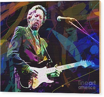 Clapton Live Wood Print by David Lloyd Glover