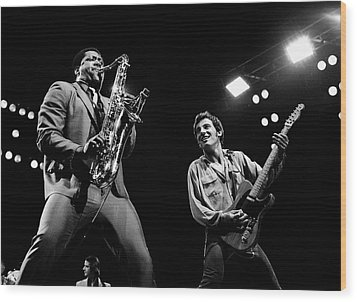 Clarence And Bruce 1981 Wood Print by Chris Walter
