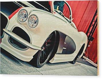 Classic Corvette Wood Print by Merrick Imagery
