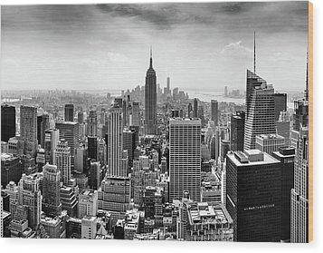Classic New York  Wood Print by Az Jackson