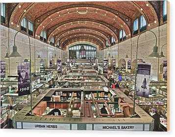 Classic Westside Market Wood Print by Frozen in Time Fine Art Photography