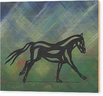 Clementine - Abstract Horse Wood Print by Manuel Sueess