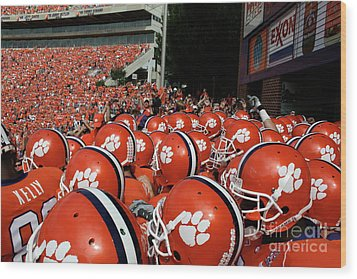 Clemson Tigers Wood Print by Taylor C Jackson
