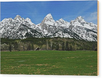 Climbers Ranch In Spring Wood Print by Greg Norrell