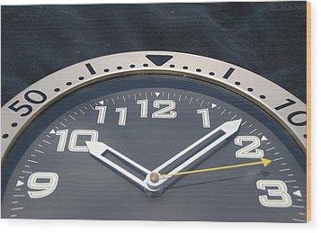 Clock Face Wood Print by Rob Hans