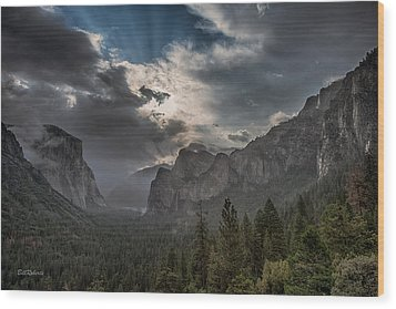 Clouds And Light Wood Print by Bill Roberts
