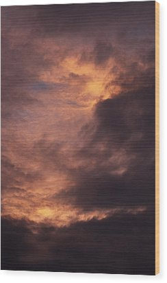 Clouds Wood Print by Clayton Bruster