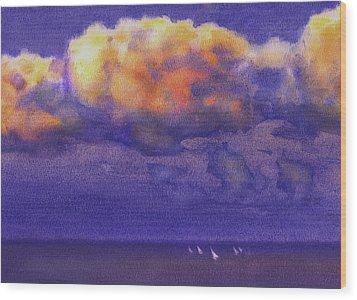 Clouds Wood Print by Valeriy Mavlo