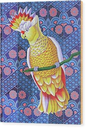 Cockatoo Wood Print by Jane Tattersfield