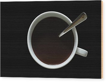 Coffee Cup Wood Print by Frank Tschakert