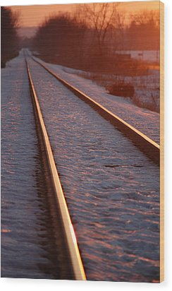 Cold Line Sunset Wood Print by Jame Hayes