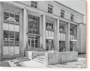 College Of Wooster Andrews Library Wood Print by University Icons