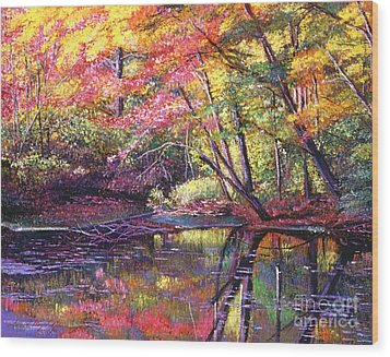 Color Poetry Wood Print by David Lloyd Glover