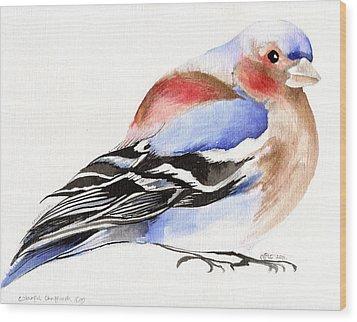Colorful Chaffinch Wood Print by Nancy Moniz