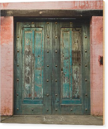 Colorful Doors Antigua Guatemala Wood Print by Douglas Barnett