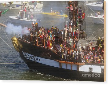 Colorful Pirates Wood Print by David Lee Thompson