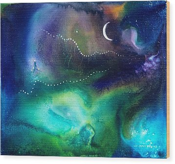 Columbian Moonrise Wood Print by Lee Pantas