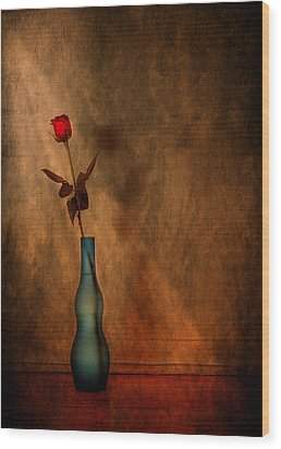 Contemplation Wood Print by Evelina Kremsdorf