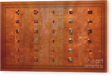 Copper Abstract Wood Print by Carol Groenen
