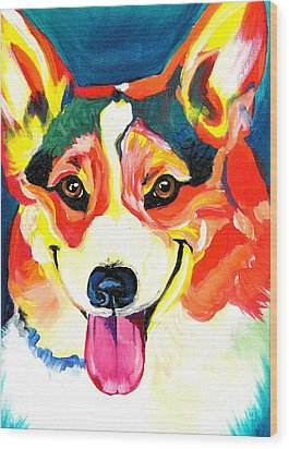 Corgi - Chance Wood Print by Alicia VanNoy Call