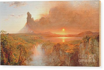 Cotopaxi Wood Print by Frederic Edwin Church