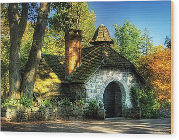Cottage - The Little Cottage Wood Print by Mike Savad