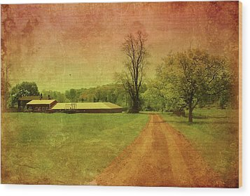 Country Living - Bayonet Farm Wood Print by Angie Tirado