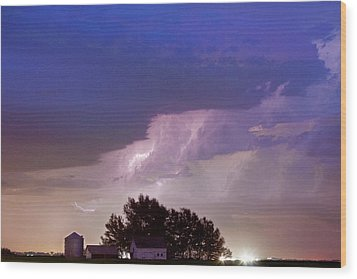 County Line Northern Colorado Lightning Storm Wood Print by James BO  Insogna