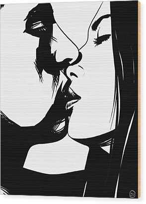 Couple Kissing Wood Print by Giuseppe Cristiano