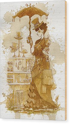 Couture Wood Print by Brian Kesinger