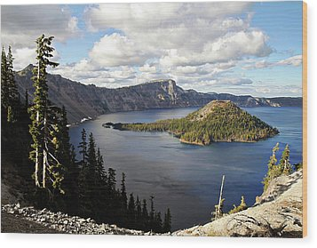 Crater Lake - Intense Blue Waters And Spectacular Views Wood Print by Christine Till