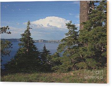 Crater Lake 8 Wood Print by Carol Groenen