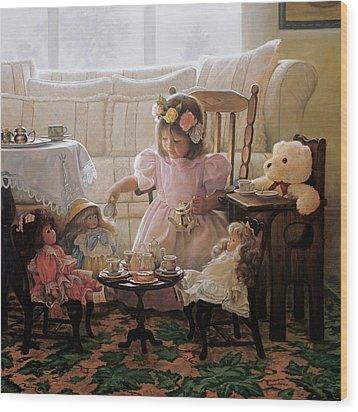 Cream And Sugar Wood Print by Greg Olsen