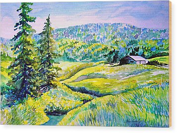 Creek To The Cabin Wood Print by Joanne Smoley