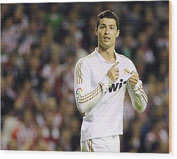 Cristiano Ronaldo 4 Wood Print by Rafa Rivas
