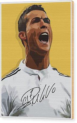 Cristiano Ronaldo Cr7 Wood Print by Semih Yurdabak
