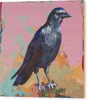 Crow #3 Wood Print by David Palmer