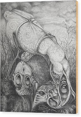 Ctulhu Seedpods Wood Print by Otto Rapp