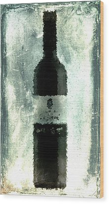 Cubist Red Wine Wood Print by Andrea Barbieri