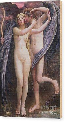 Cupid And Psyche Wood Print by Annie Louisa Swynnerton