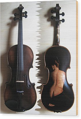 Custom Gliga Violin 2 Wood Print by Dino Muradian