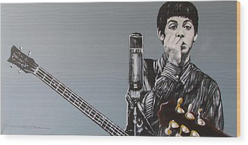 D-note Wood Print by Eric Dee
