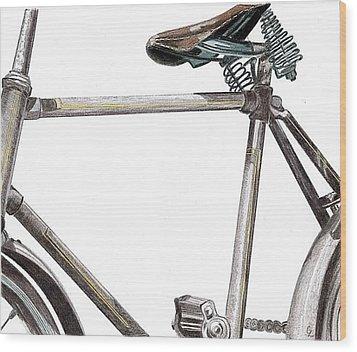 Dad's Bike Wood Print by Glenda Zuckerman