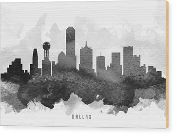 Dallas Cityscape 11 Wood Print by Aged Pixel