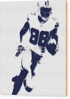 Dallas Cowboys Dez Bryant Wood Print by Joe Hamilton