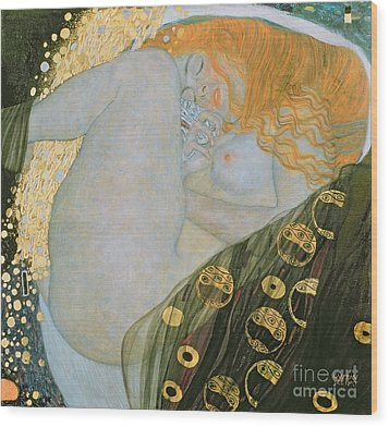 Danae Wood Print by Gustav Klimt